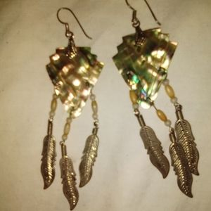 NATIVE AMERICAN FEATHER EARRINGS